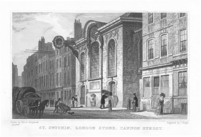St_Swithins_London_Stone_church_1831
