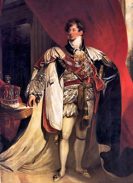George IV when he was Prince of Wales.  When Caroline first met him, she remarked that he was a great deal fatter than she'd been led to believe. (image from Wikimedia Commons)