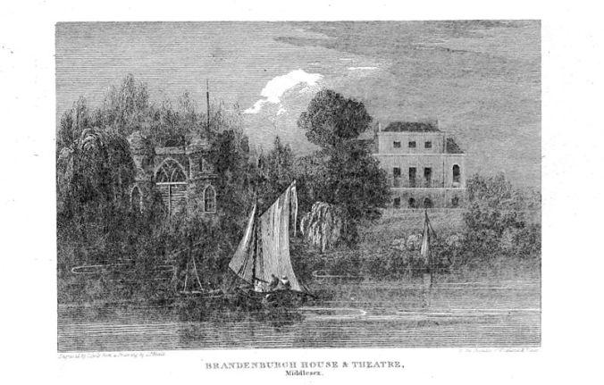 Brandenburgh House, Caroline's home in Hammersmith (image via Wikimedia Commons)