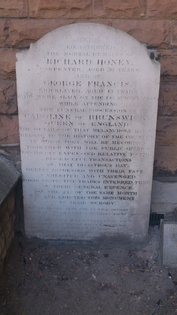 The grave of Richard Honey and George Francis