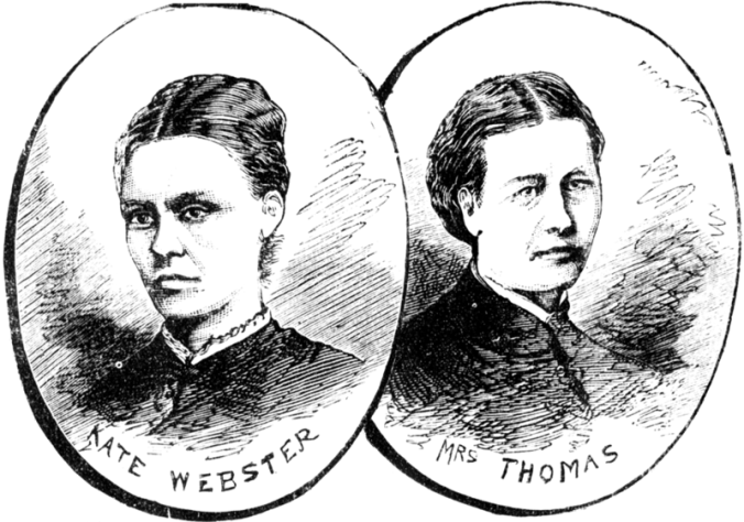 Kate Webster and Julia Martha Thomas, image from the Illustrated Police News in 1879 (image courtest of Wikimedia Commons)