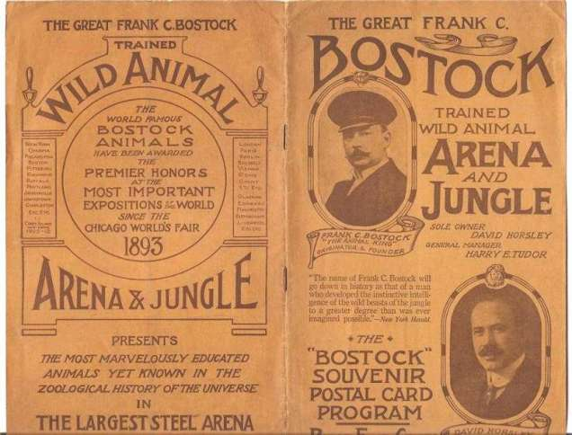 Leaflet advertising one of Frank Bostock's shows (image from National Fairground Archive)