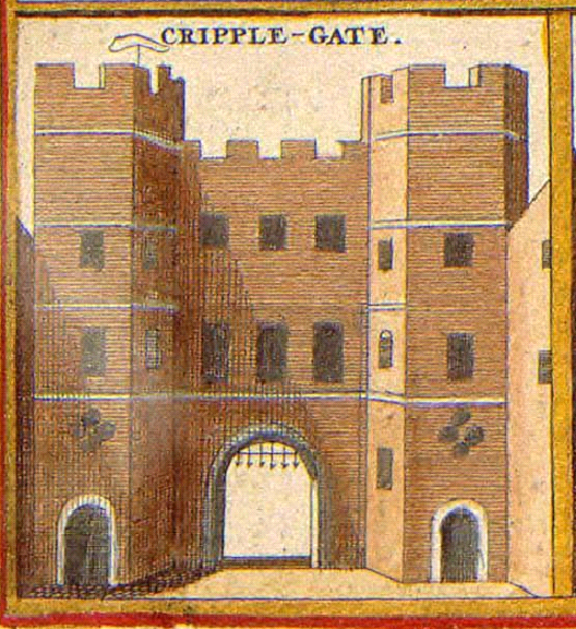 Cripplegate in the 17th Century (image from Wikimedia Commons)