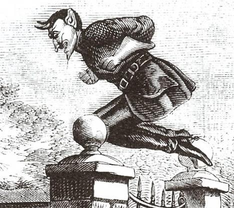 """""""Jack the Devil"""" from an 1838 Penny Dreadful (image from Wikimedia Commons)"""