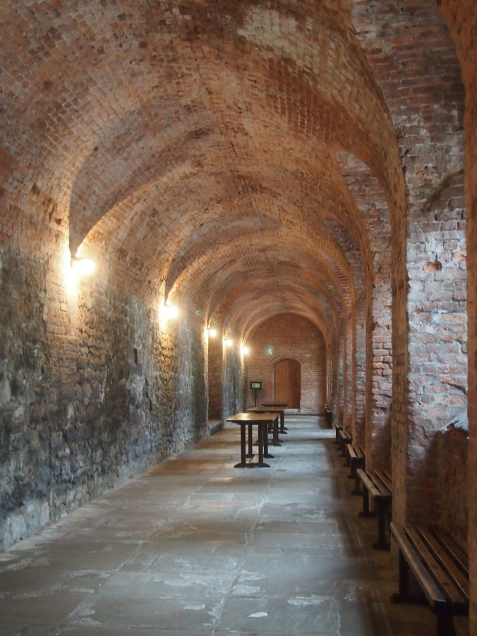 The covered passageway built by the Duke of Norfolk still survives today