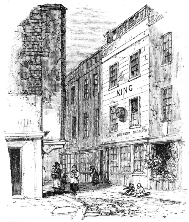 Cock Lane as seen in Memoirs of Extraordinary Popular Delusions and the Madness of Crowds, 1852 (image from Wikimedia Commons)