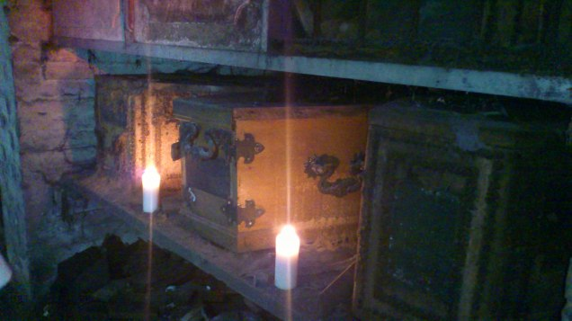 Coffins in the Brompton catacombs, from my visit in summer 2012