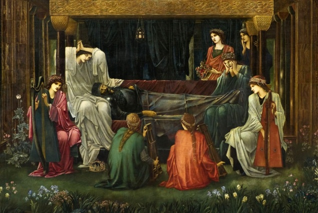 """Detail from """"The Last Sleep of Arthur"""" by Edward Burne-Jones, 1898 (image from Wikimedia Commons)"""