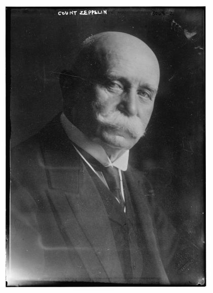 Ferdinand Graf von Zeppelin, inventor of the Zeppelin airship (public domain image from the Library of Congress)