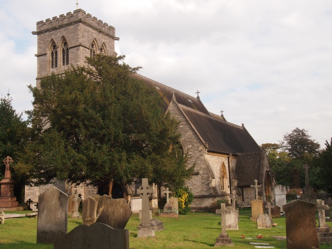 The new church of St John the Evangelist, which was consecrated in 1850