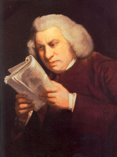 Samuel Johnson, by Joshua Reynolds (image courtesy of Wikimedia Commons)