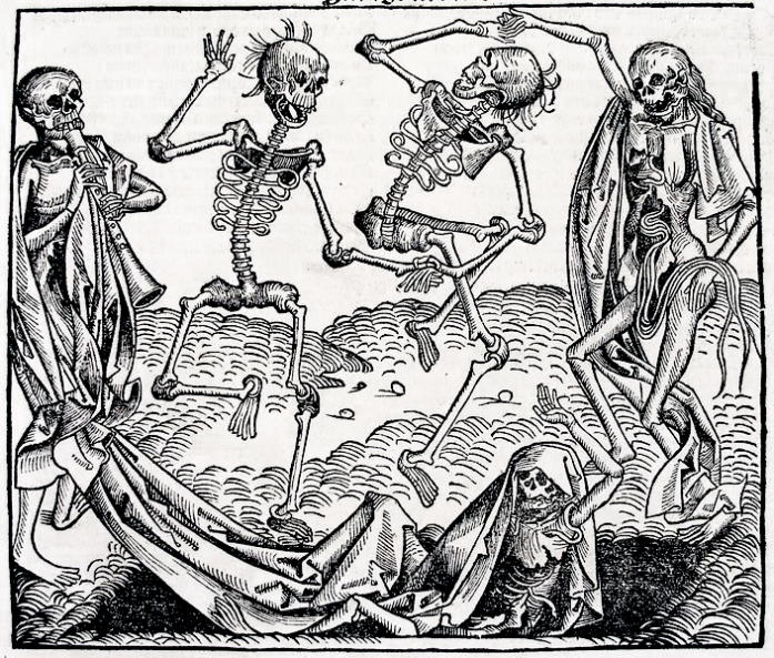 Dance of Death by Michael Wolgemut (1493)  Image via Wikimedia Commons