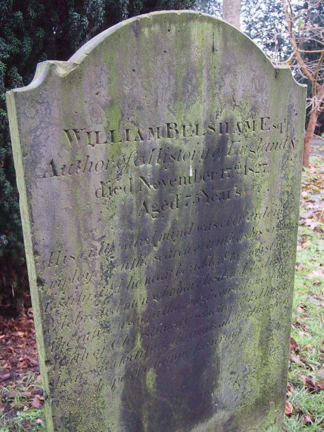 Grave of historian William Belsham