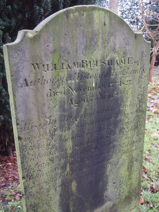 Grave of historian William Belsham