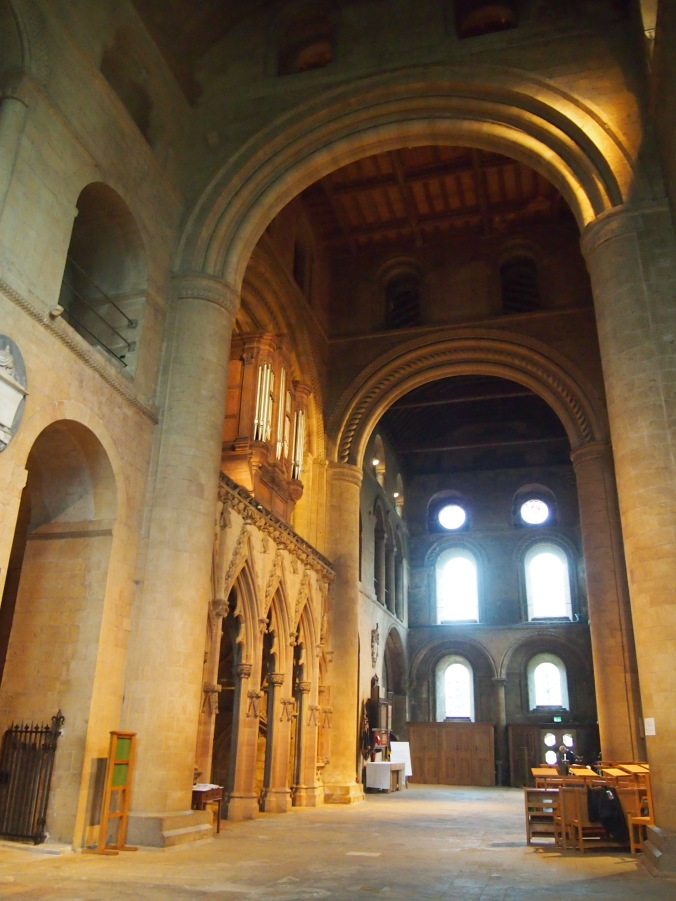Imposing Romanesque arches in the crossing