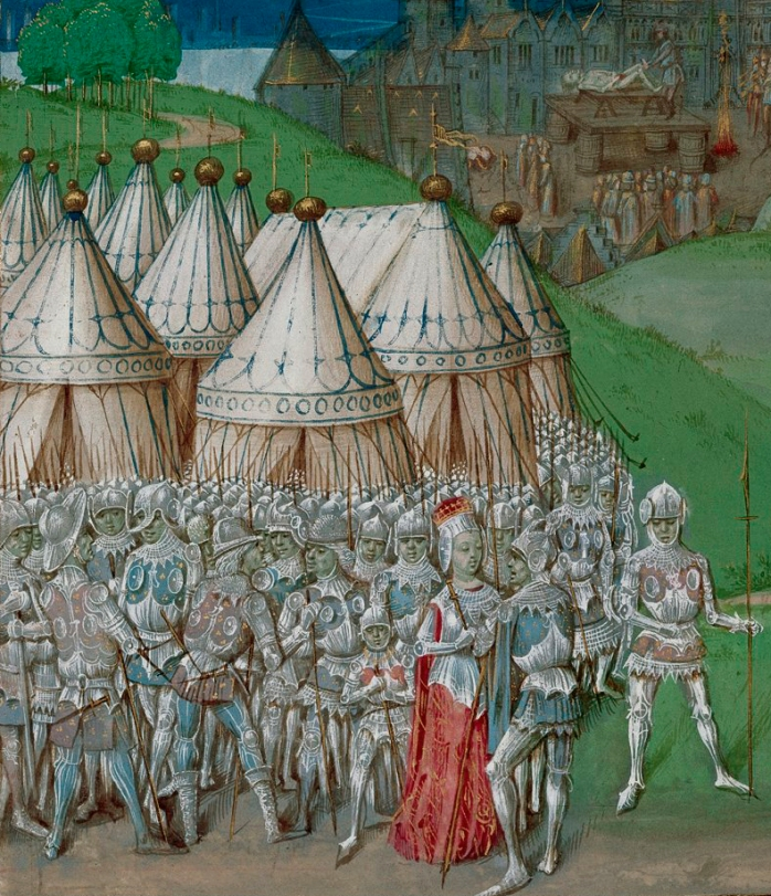 15th Century manuscript image depicting Isabella and Roger Mortimer (image from Wikimedia Commons)