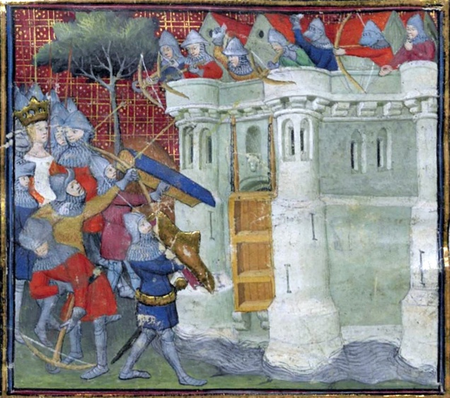 Isabella at the Siege of Bristol in 1326 (image via Wikimedia Commons)