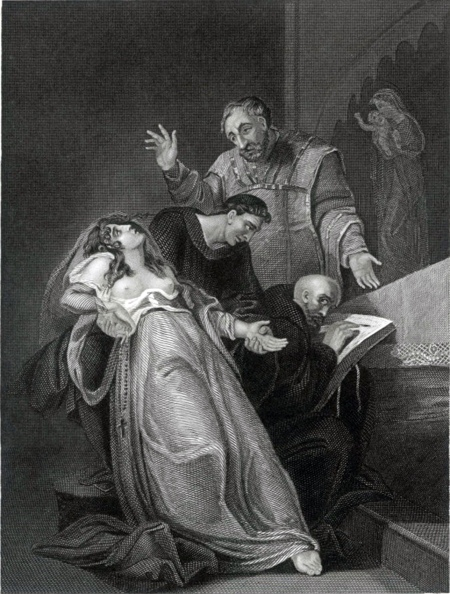 A rather melodramatic 19th Century depiction of Elizabeth Barton (image via Wikimedia Commons)