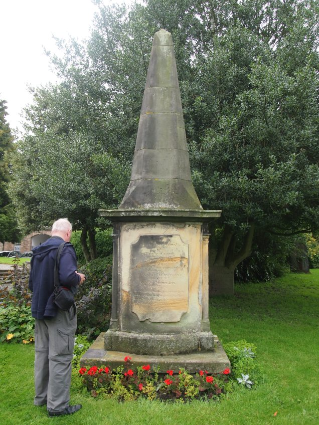 This monument commemorates the victims of a terrible fire at Kirkby Lonsdale's Rose and Crown Hotel in 1820.