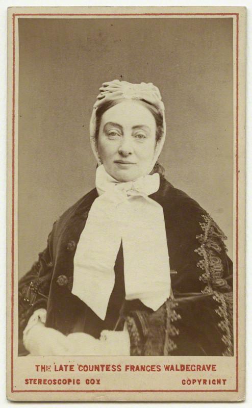 Frances Elizabeth Anne (née Braham), Countess Waldegrave by London Stereoscopic & Photographic Company (© National Portrait Gallery, London)