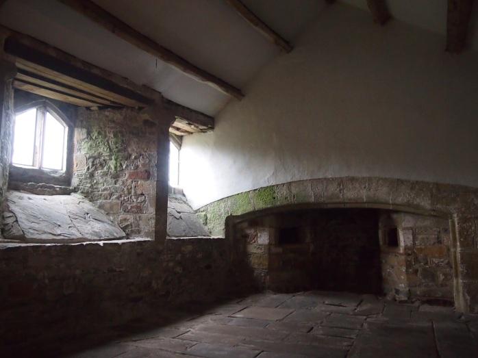 The castle's medieval kitchen