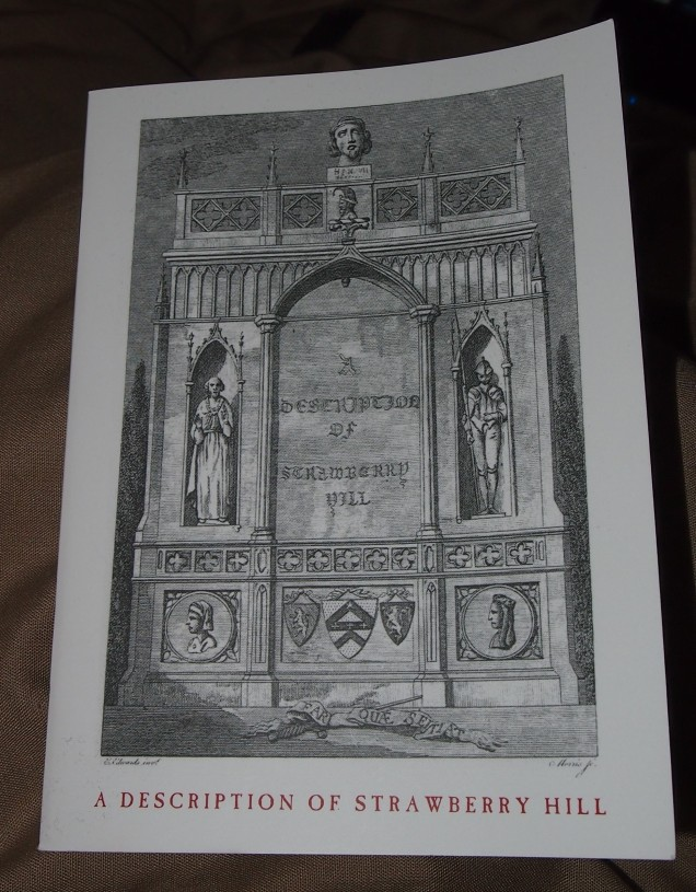 An updated version of Walpole's guide to Strawberry Hill that is provided for today's visitors