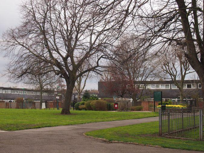 Blenheim Gardens, the postwar housing estate close to the windmill