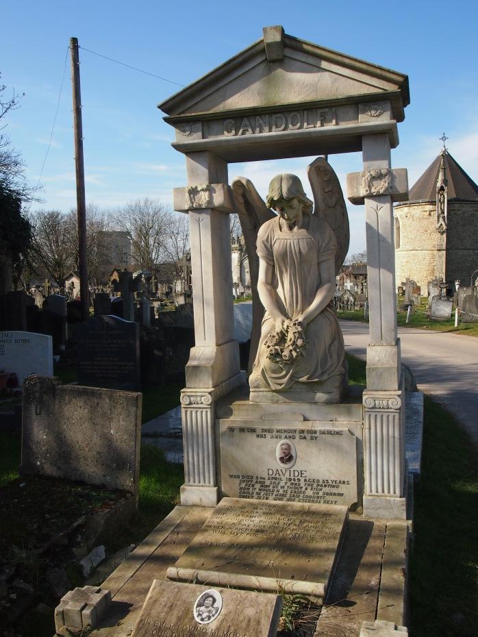 The impressive grave of the Gandolfi family