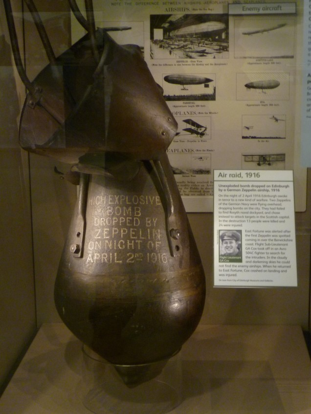 Unexploded Zeppelin bomb dropped in 1916 (image from Wikimedia Commons)