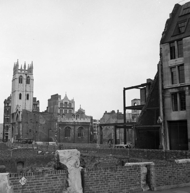 St Alban, Wood St, after the Second World War (source)