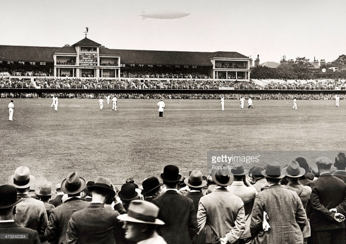 Father Time on the Grandstand in 1930 during the Ashes Test Image © Getty Images