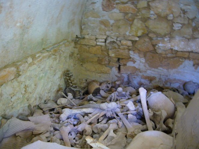 Charnel House in Greece (image via Nabokov on Wikimedia Commons)