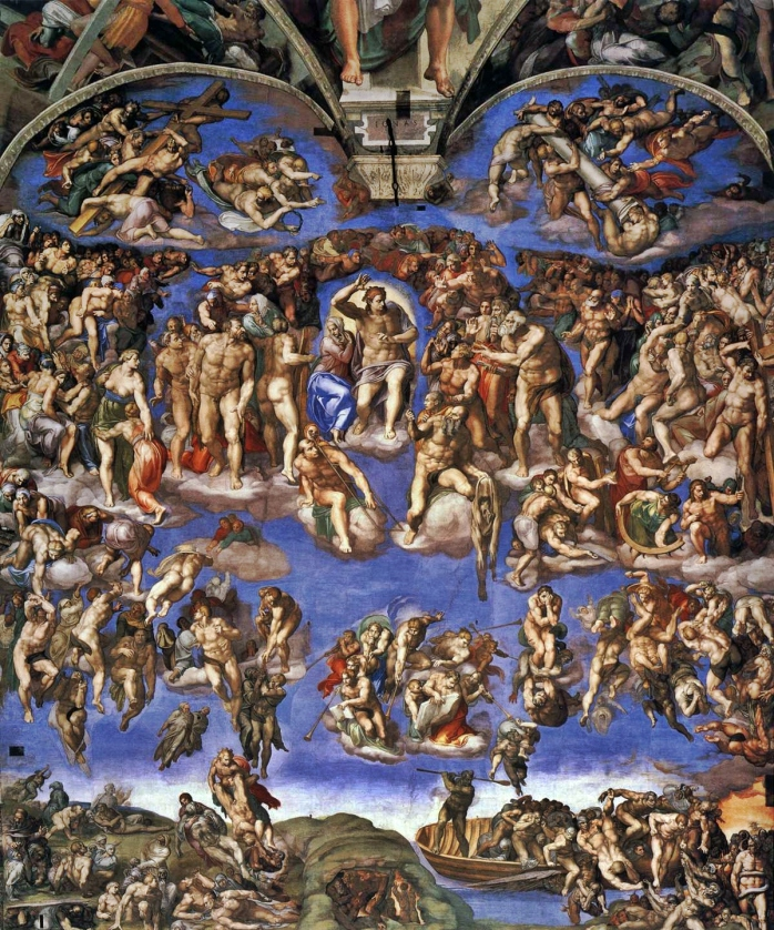 Michelangelo's fresco of The Last Judgment in the Sistine Chapel, Vatican City (image via Wikimedia Commons)