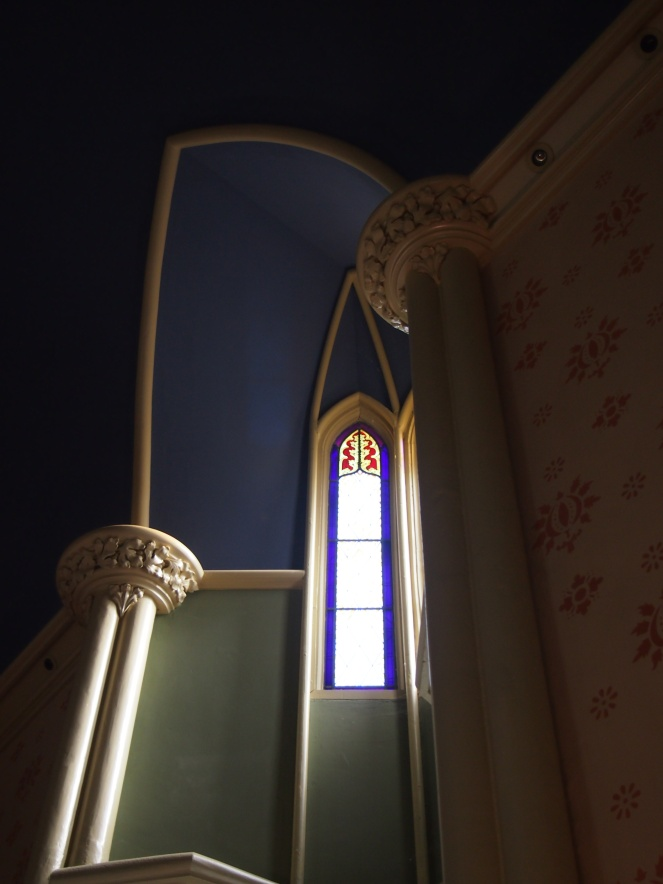Inside the Anglican chapel