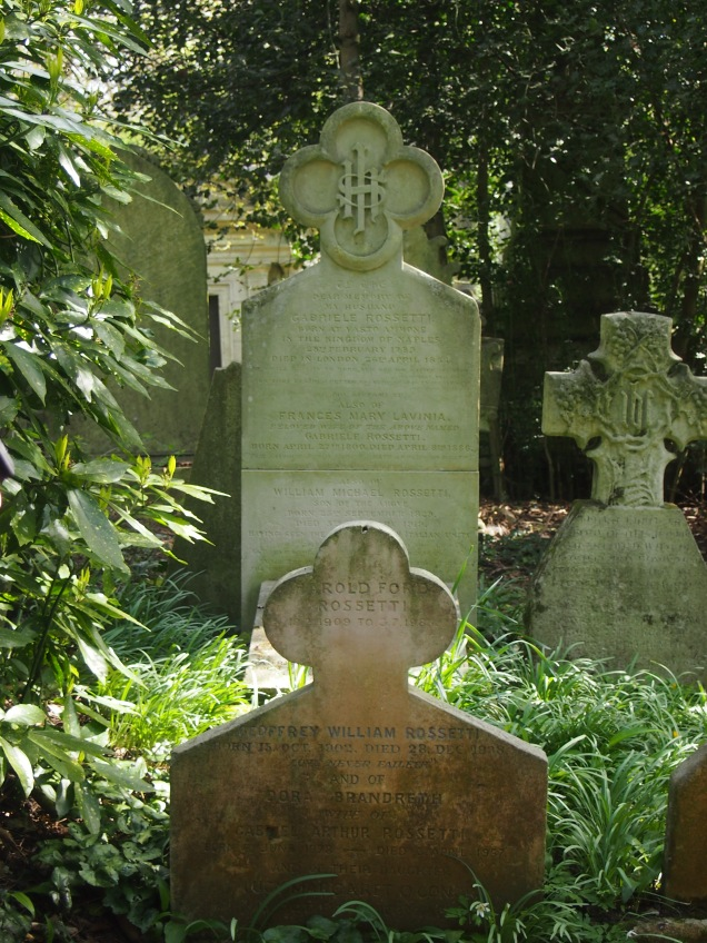 The grave of members of the Rossetti familiy