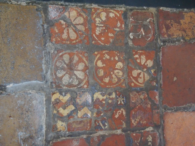 Medieval tiles in the church of St Nicholas