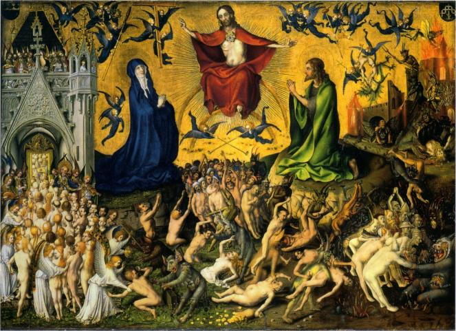 Weltgericht (The Last Judgement) by Stefan Lochner, c.1435 (image via Wikimedia Commons)