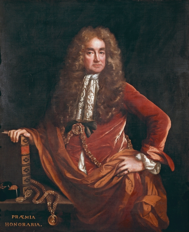 Portrait of Elias Ashmole, by John Riley (image from Wikimedia Commons)