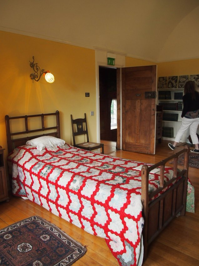 """Fittingly, this bedroom was home to an exhibition on the [] story """"The Yellow Wallpaper"""" when I visited Blackwell"""