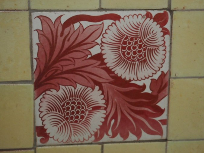 Original tiles by William de Morgan can still be found at Blackwell