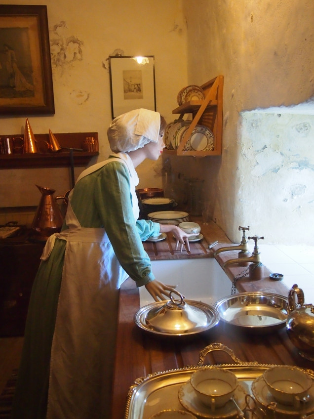 Scenes from the castle as it was in the early twentieth century have been recreated