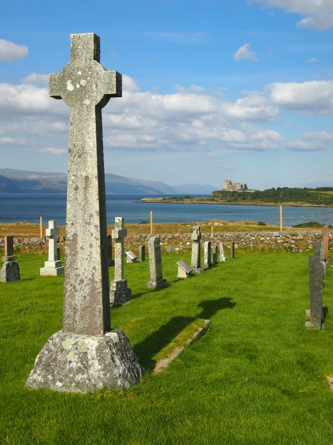 Sir Fitzroy MacLean's grave, facing Duart Castle