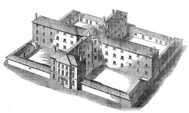 Sampson Kempthorne's cruciform design for a workhouse. Brentford Union Workhouse would have looked similar to this. Image via Wikimedia Commons.