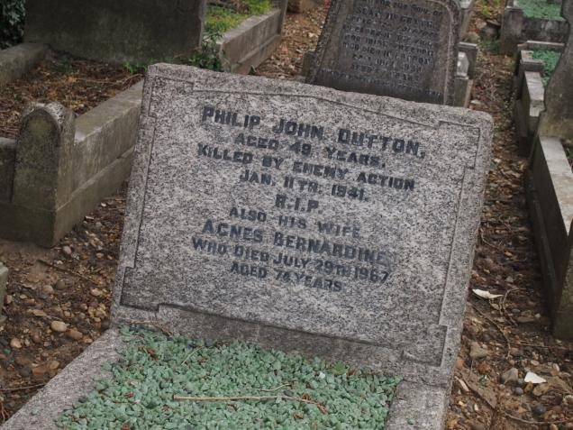 Philip John Dutton, a victim of the Blitz
