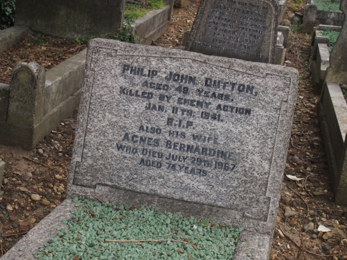 Philip John Dutton, a victim of the Blitz