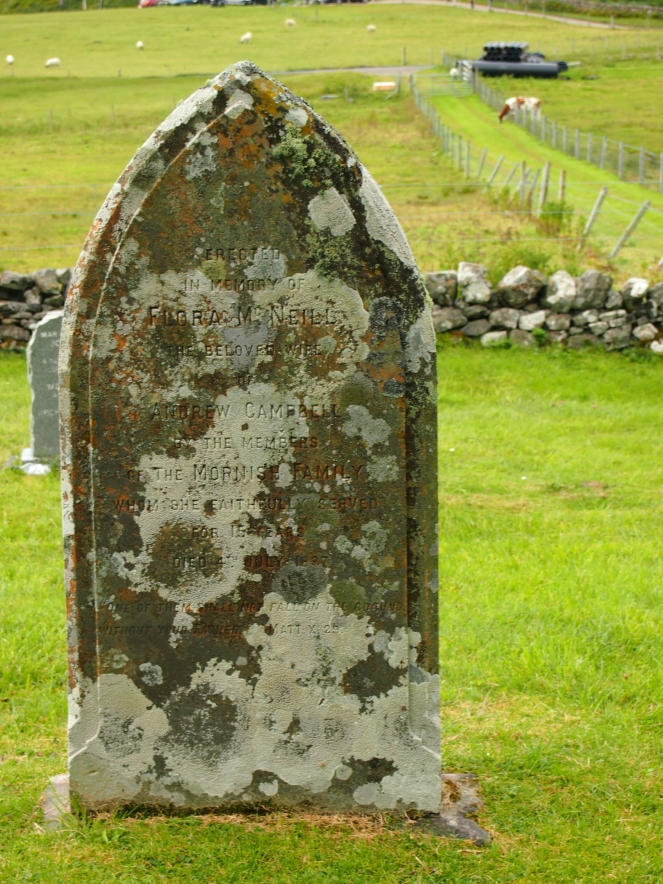 Flora McNeill's grave was paid for by the Mornish family, who she worked for for 15 years