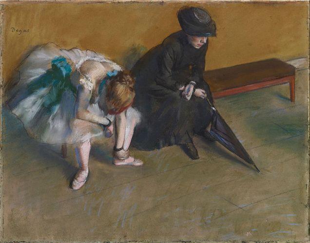 """Waiting"" by Edgar Degas (c.1882) Image via Wikimedia Commons"