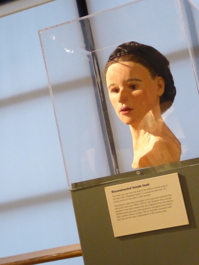 Reconstruction of the Spitalfield lady's possibly appearance, on display at the Museum of London