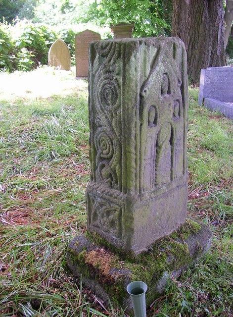 Anglo-Saxon cross base (image via Wikimedia Commons - source)