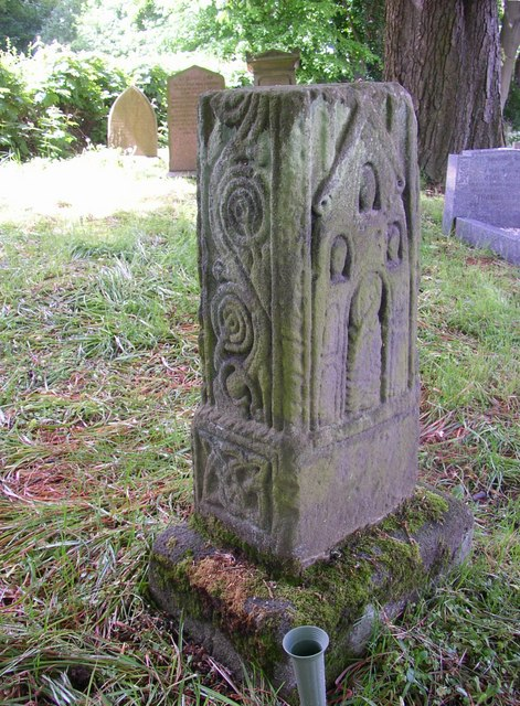 Anglo-Saxon cross base (image via Wikimedia Commons - source)